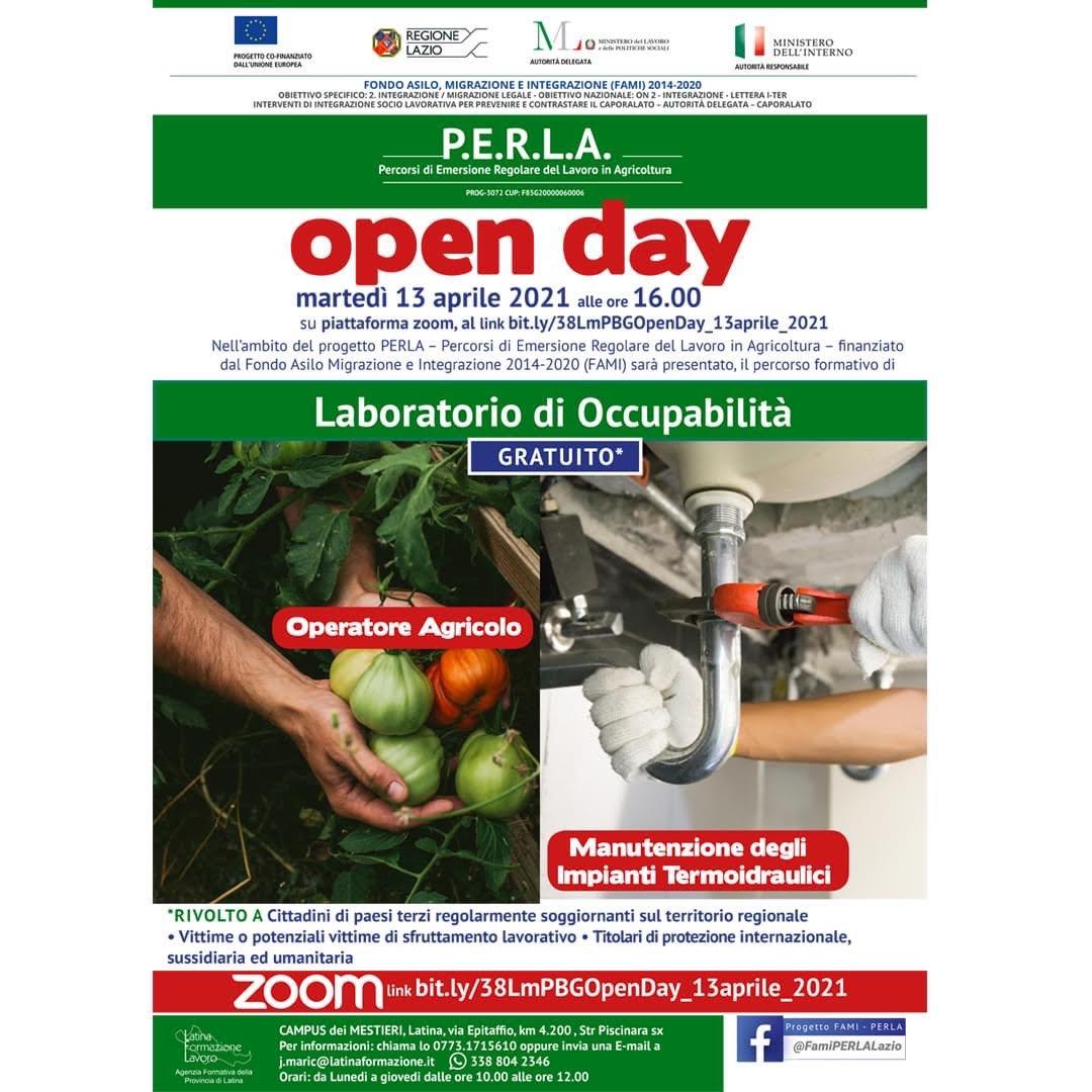 Laboratori di occupabilità – Open day martedì 13 aprile 2021
